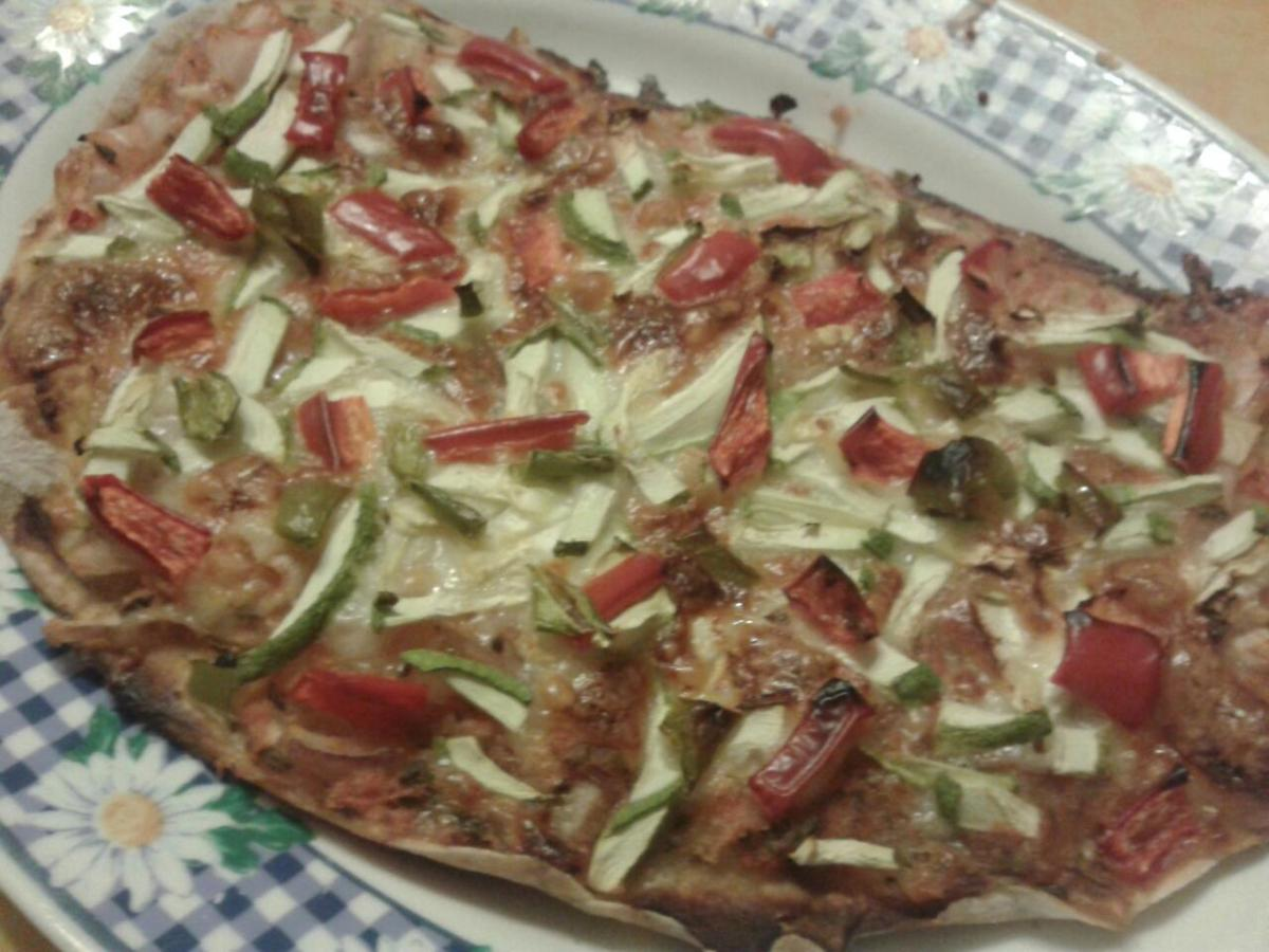 Pizza casolana amb massa de cervesa