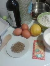 Ingredients apunt per fer els bunyols de Quaresma