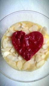 quecuinoavui_cor de gerds amb crema de mandarina i ametlles